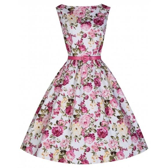 64c7e3d4e3ce Lindy Bop Dresses   Audrey Floral Swing Dress   Poshmark